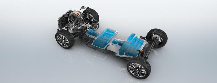 Nuevo SUV eléctrico PEUGEOT e-2008: base rodante eléctrica