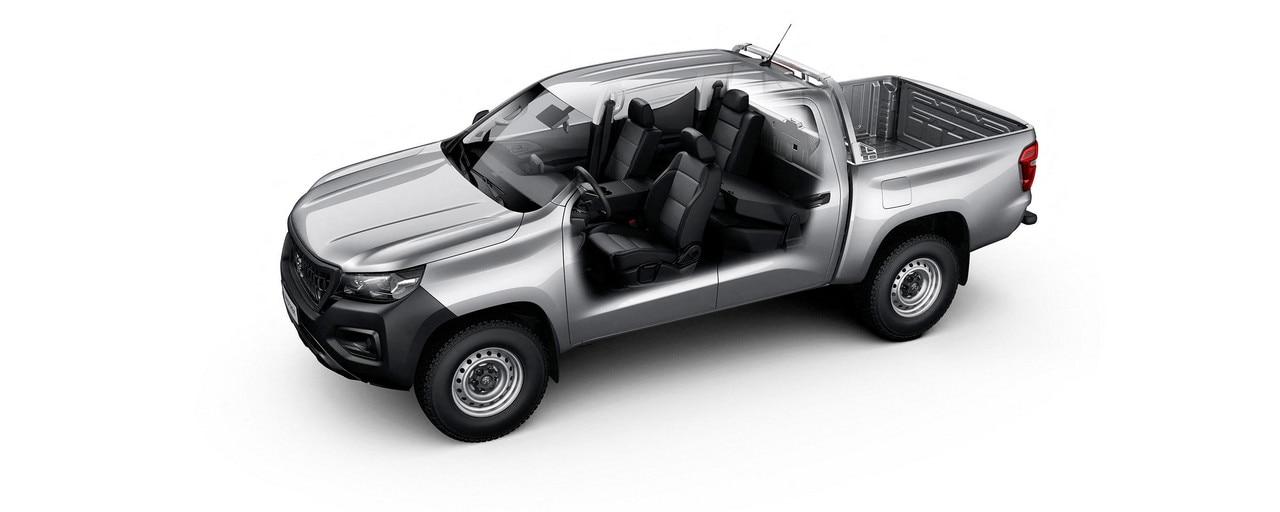 Nuevo pick-up PEUGEOT LANDTREK cabina doble mdularidad